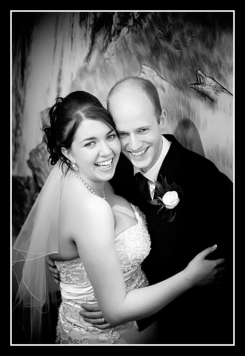 wedding photo of ben & bryony 2