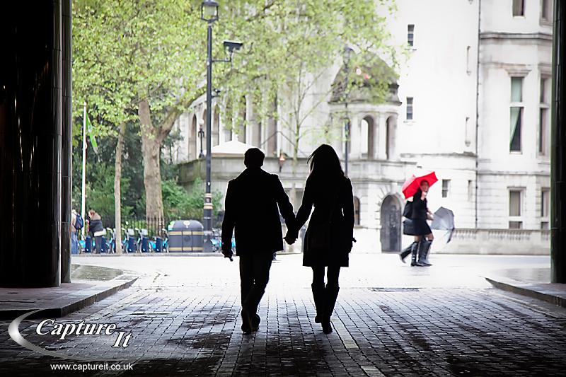 Central London engagement photograph 1