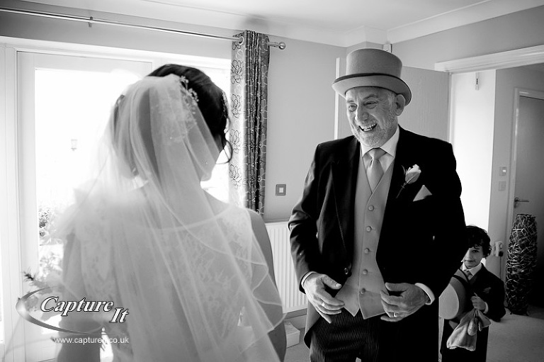 wedding photo at Coombe Lodge