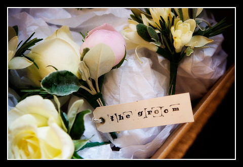 buttonhole or boutonniere for groom