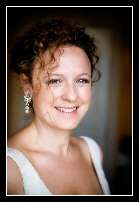head and shoulders portrait of bride