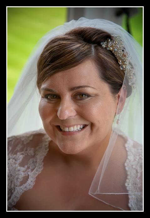 portrait of bride Deborah