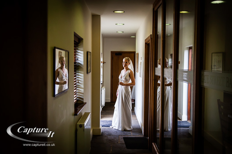 reflections of a bride at Gate Street Barn