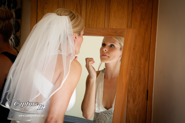 bride getting ready at Gate Street Barn