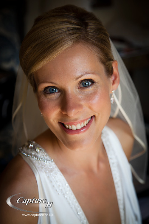 portrait of bride in refelcted light
