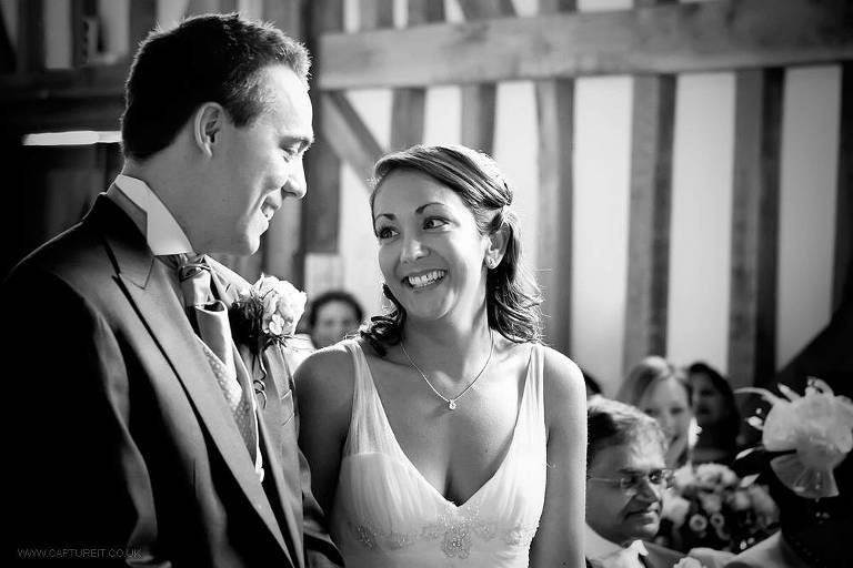 wedding photo of couple at Gate Street Barn