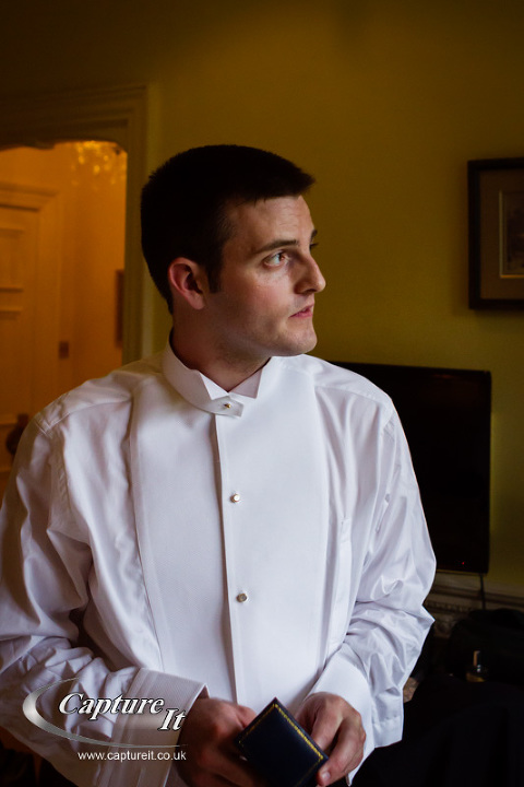 groom getting ready at Warren House, Kingston