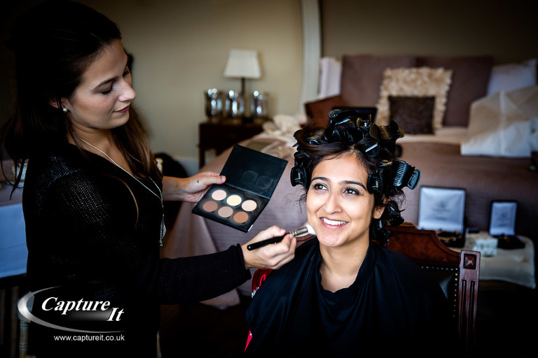 asian bride in curlers