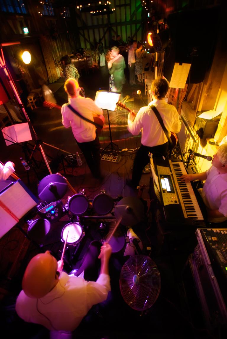 Band Playing at Wedding