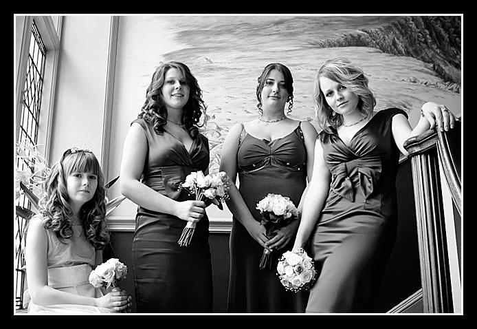 wedding photo of bryony's bridesmaids