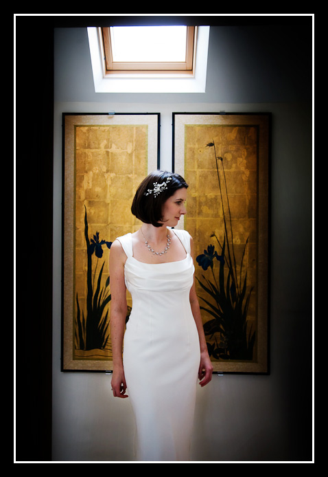 Bride in Elaine Closs dress