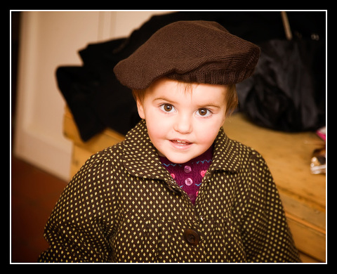 Little girl wearing beret