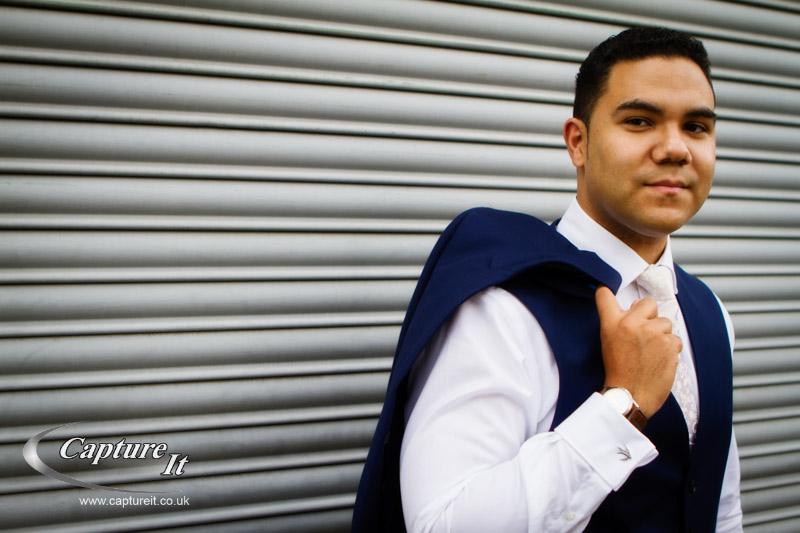 cool groom portrait