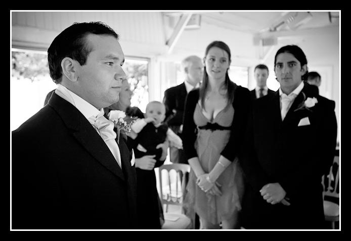 groom gets serious