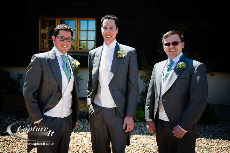 Groom, Best Man and Usher at Gate Street Barn Wedding