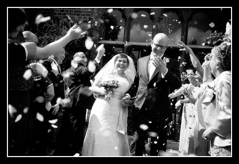 Confetti shot at Warren House