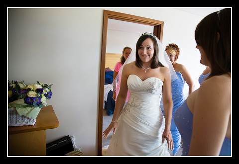 bride excited about wedding