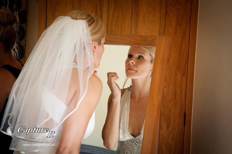 bride getting ready at Gate Street Barn