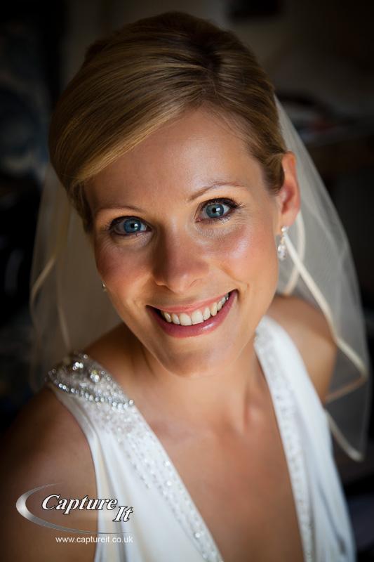 portrait of bride in refelcted light