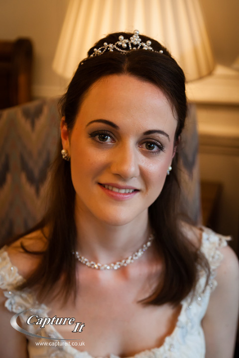 portrait of bride at Warren House